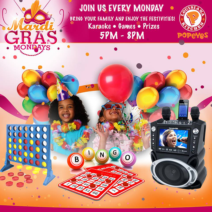 Mardi Gras Mondays At Popeyes!