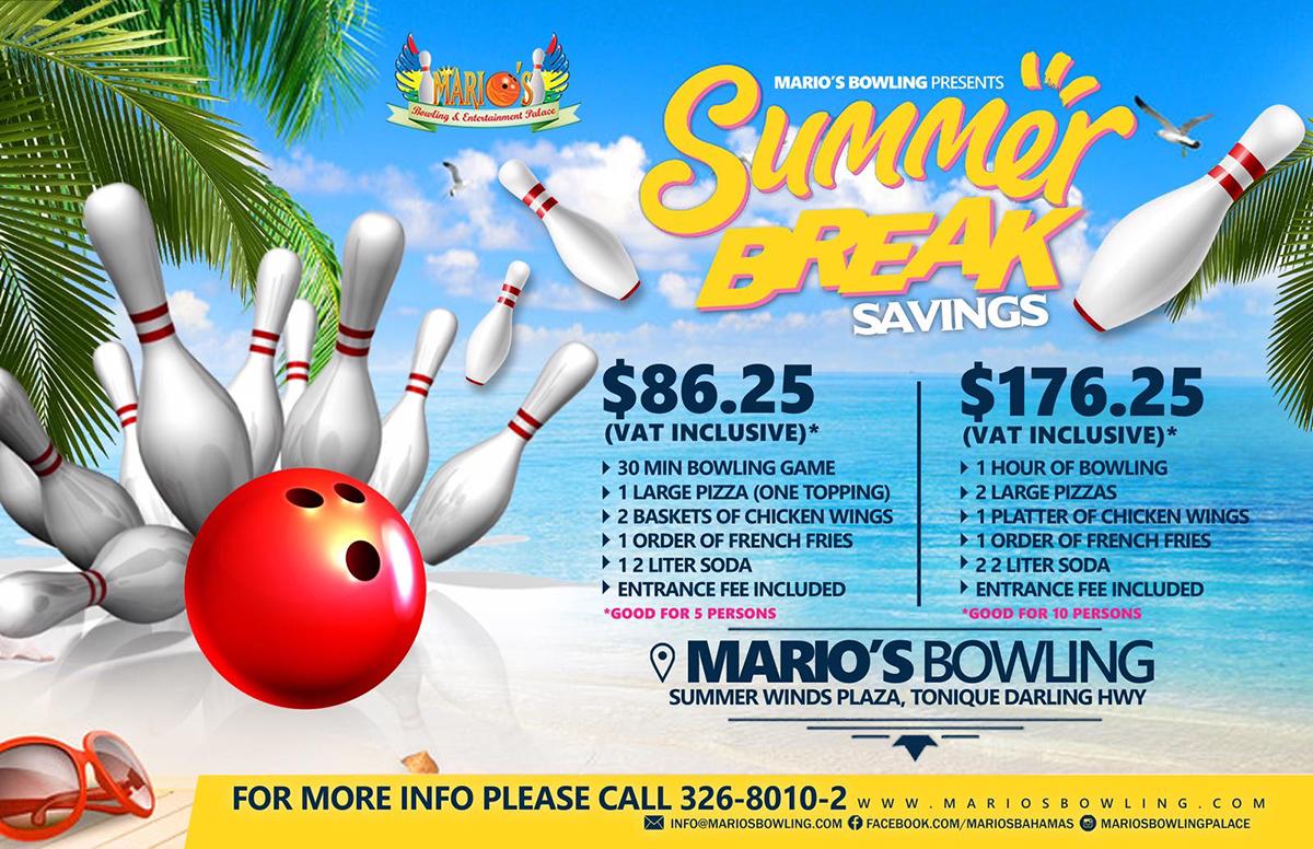 Summer Break Saving At Marios Bowling & Family Entertainment Palace!