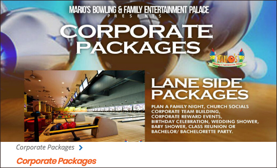 Click For Mario's Corporate Packages