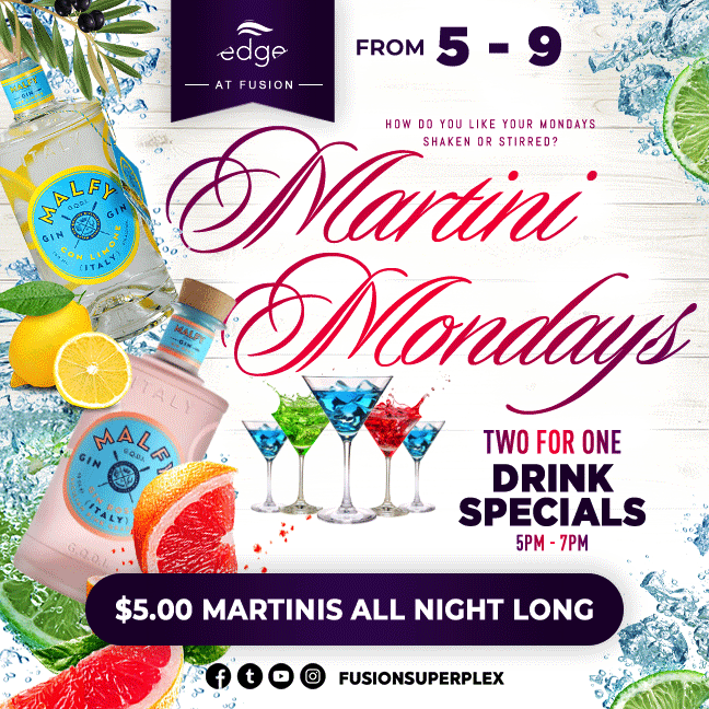 Martini Mondays at Fusion Superplex