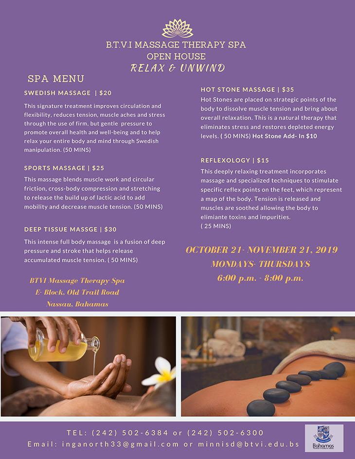 BTVI Massage Open House