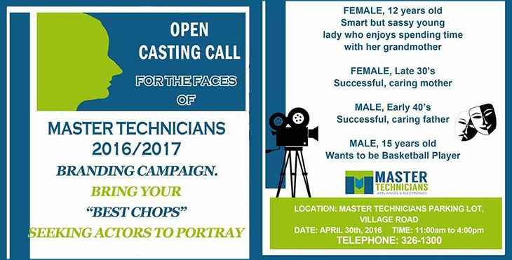 Open Casting Call at Master Technicians