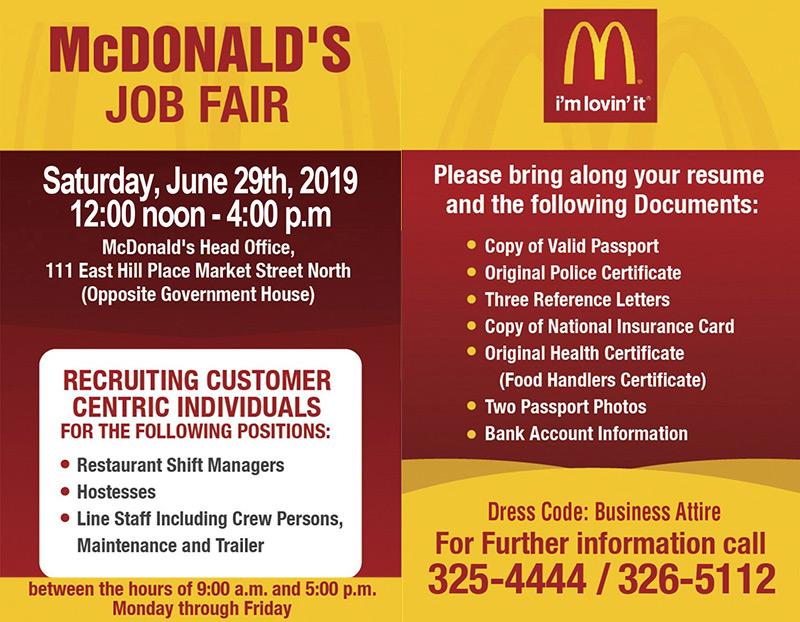 McDonald's Job Fair