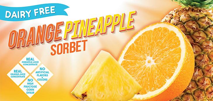 NEW FLAVOR ALERT! Try our new refreshing Orange Pineapple Sorbet!!!