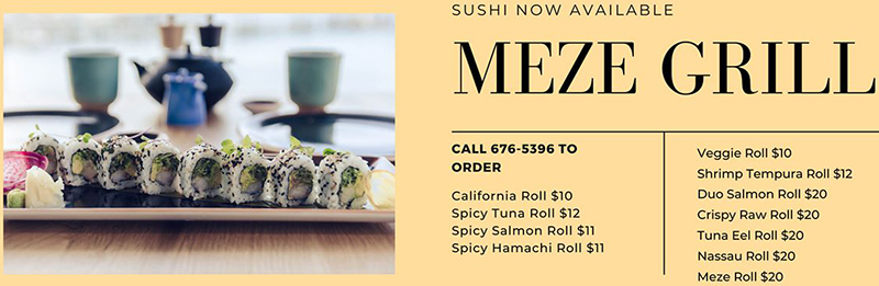 Satisfy those cravings we're rolling out the Sushi. Takeout is available Mon-Friday 11:30-7pm. Orders can be placed through the Kraven app for delivery or by calling 676-5396 for curbside pickup.