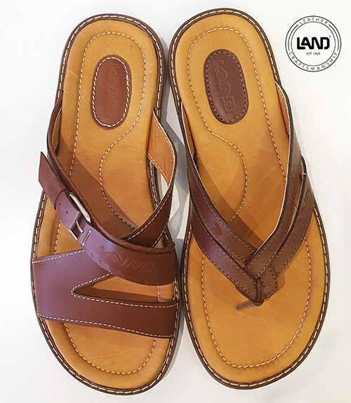 LAND all leather men's sandals for a step in the right direction at The Brass & Leather Shops