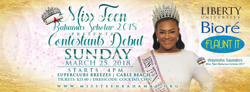 Miss Teen Bahamas Scholar 2018 Contestants Debut