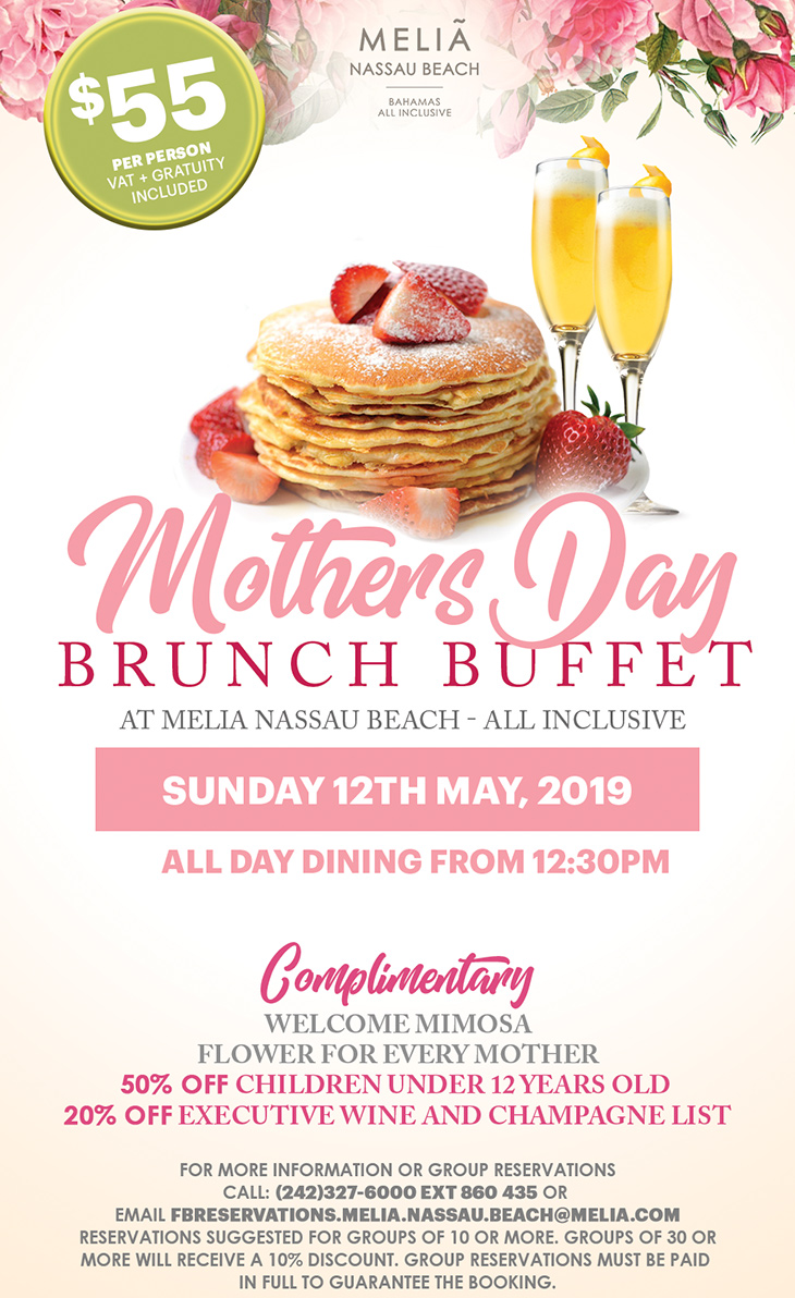 Melia Nassau Beach Resort | Mother's Day Brunch