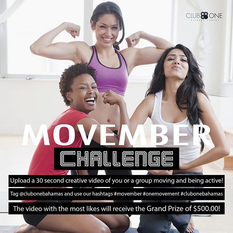 Movember Challenge at Club One Fitness Centre