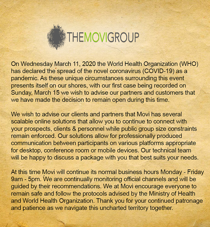 The Movi Group Notice