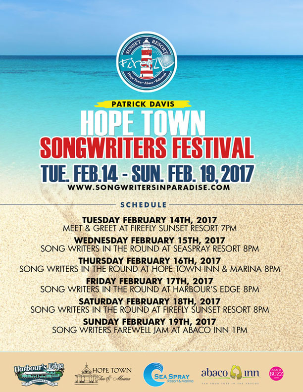 Patrick Davis Hope Town Songwriters Festival
