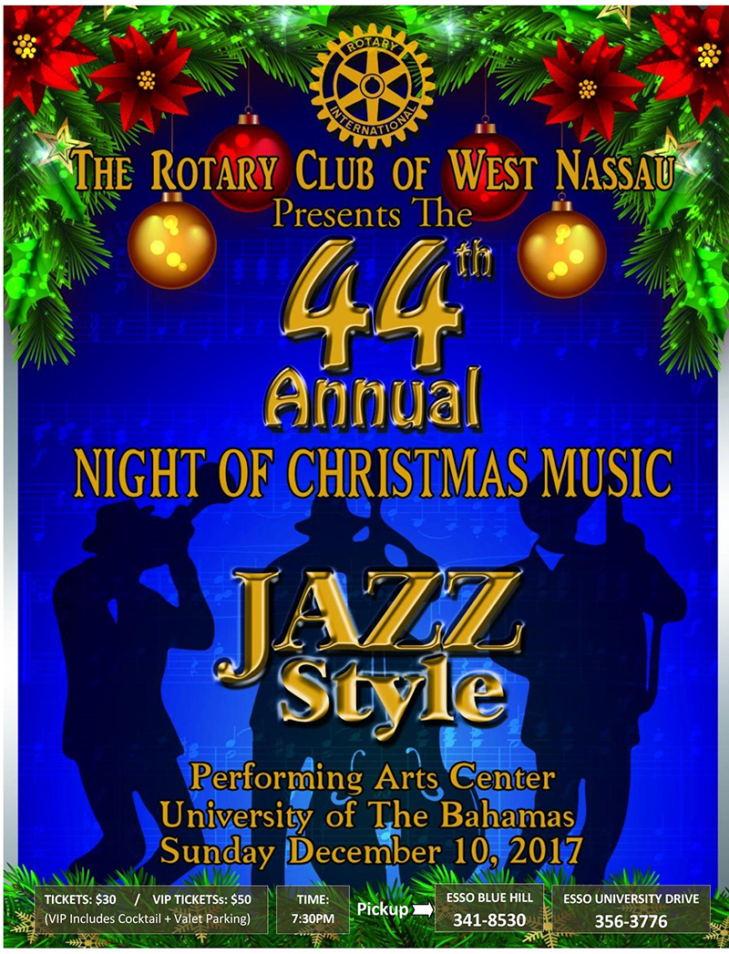 44th Night of Christmas Music Jazz Style at 7:30 pm on December 10th