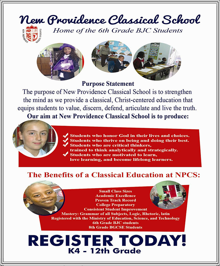 New Providence Classical School Students. Register Today!
