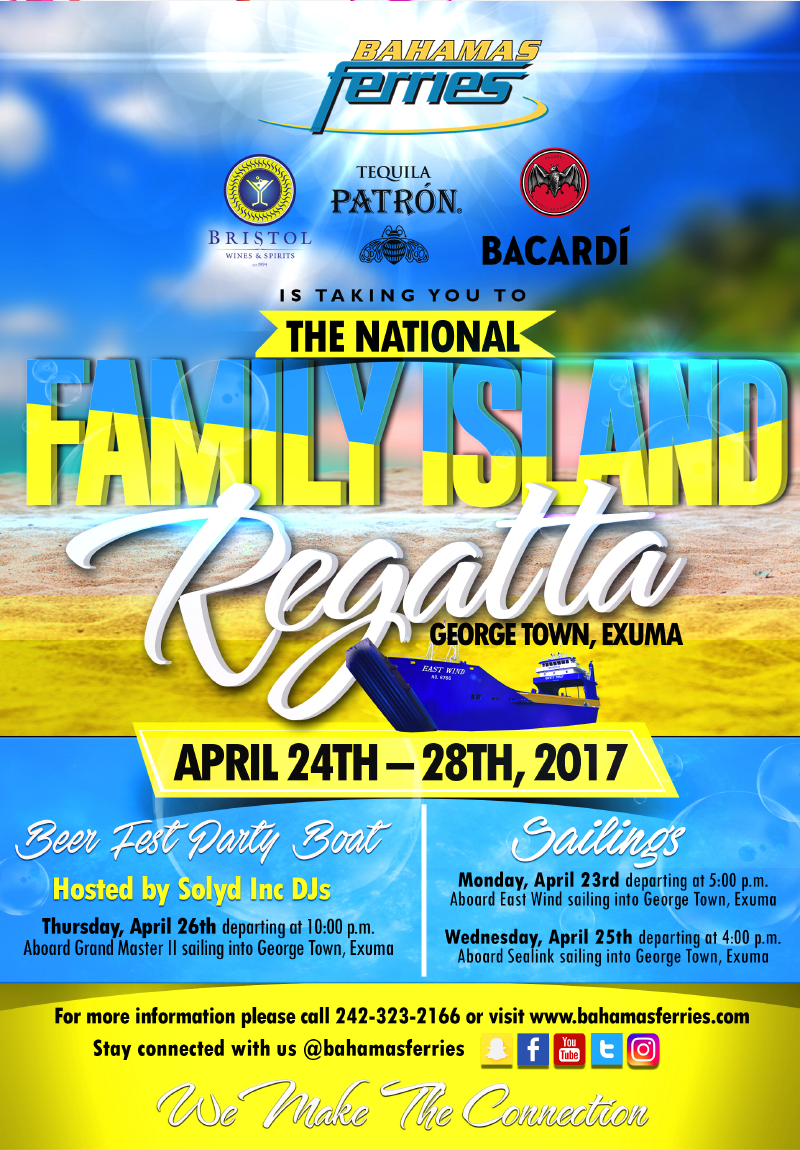 National Family Island Regatta: George Town Exuma | Bahamas Ferries