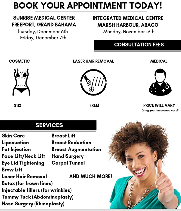 Bahamas Plastic Surgery | Book Your Appointment Today
