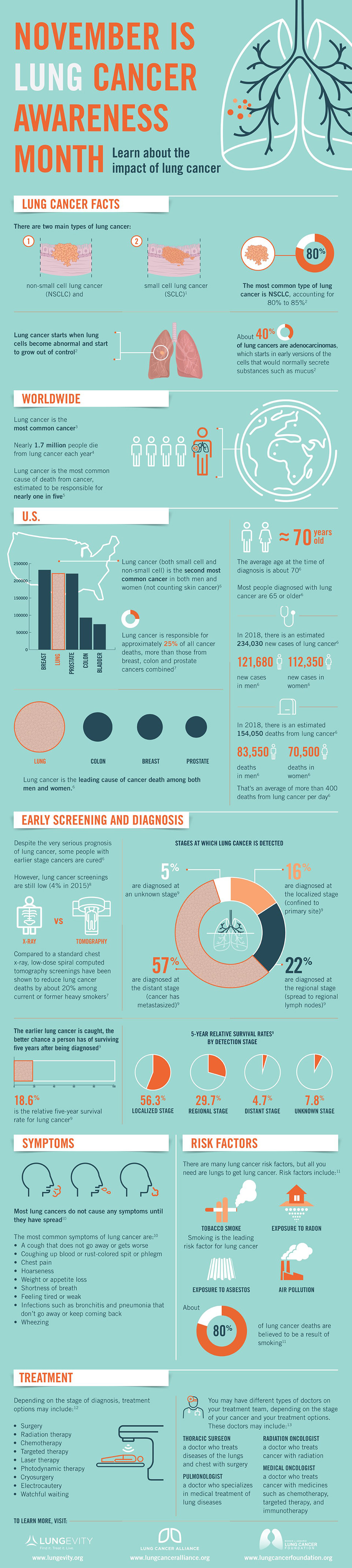Lung Cancer Infographic – November is National Lung Cancer Awareness Month