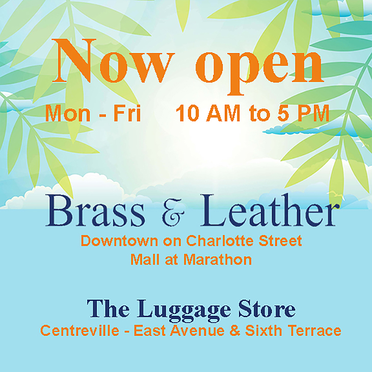 Now Opened - Brass and Leather