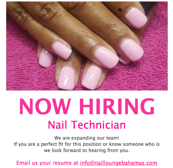 The Nail Lounge Now Hiring Technician