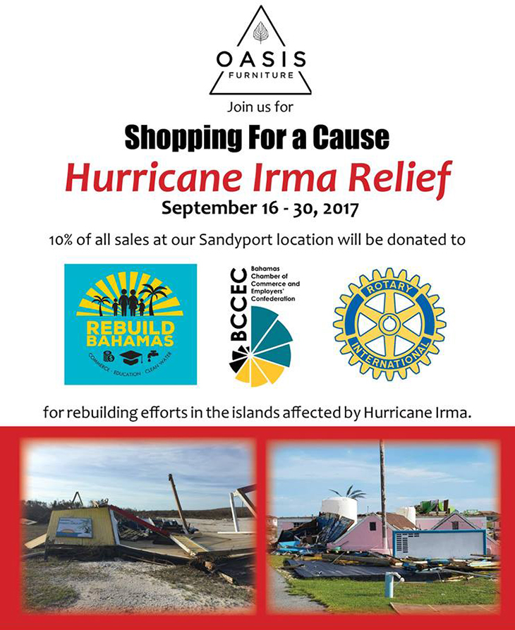 Oasis Chic Living Is Helping With Hurricane Relief