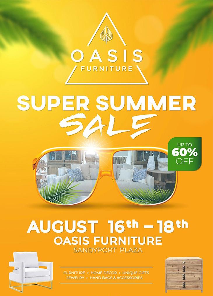 Oasis Chic Living Super Summer Sale