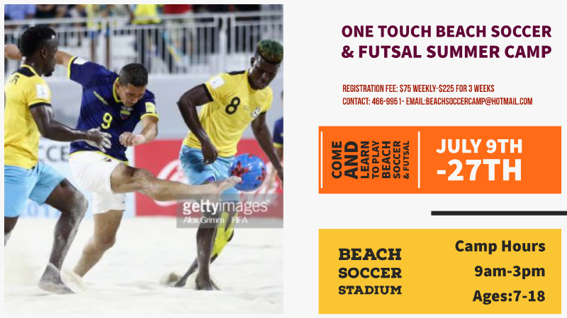 One Touch Beach Soccer & Futsal Summer Camp