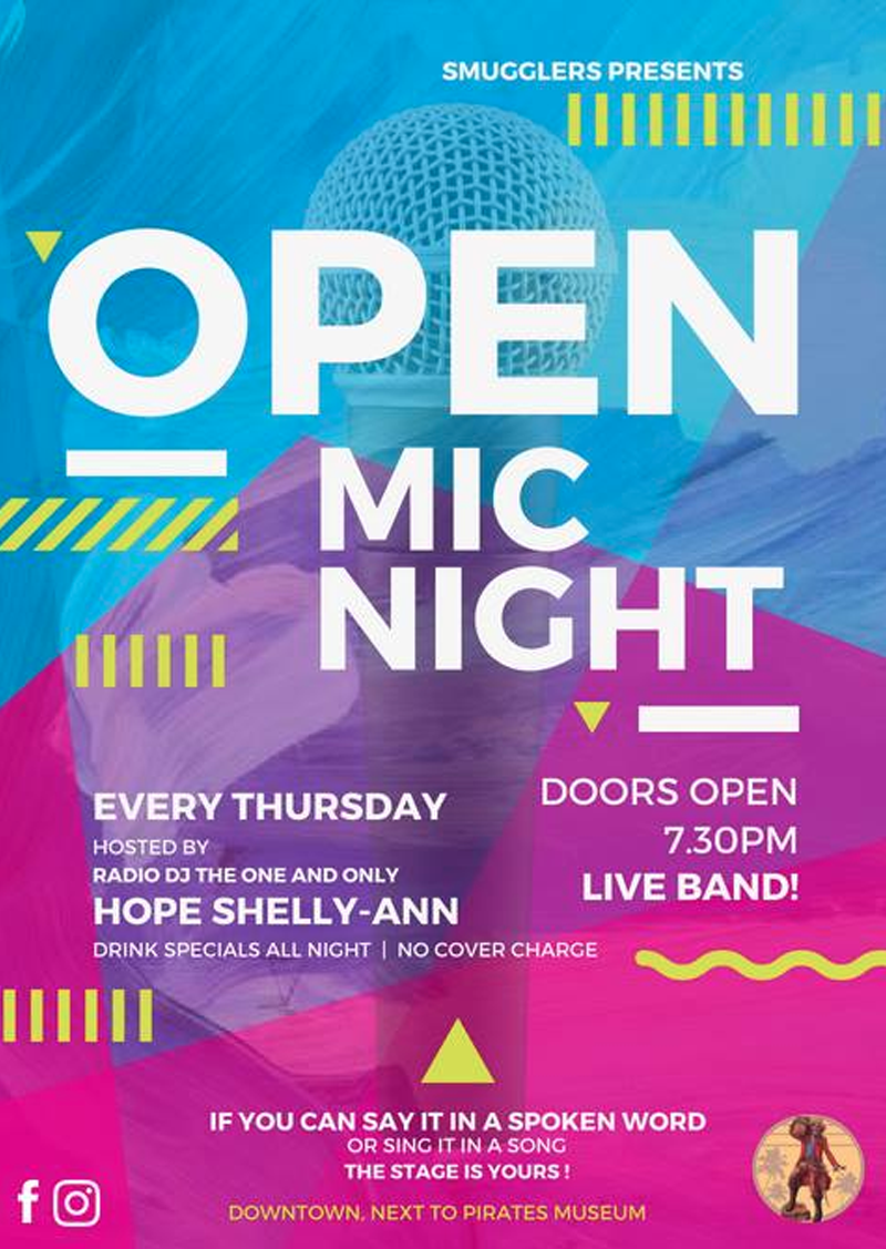 Smugglers Open Mic Night - Every Thursday! Presented by Smugglers
