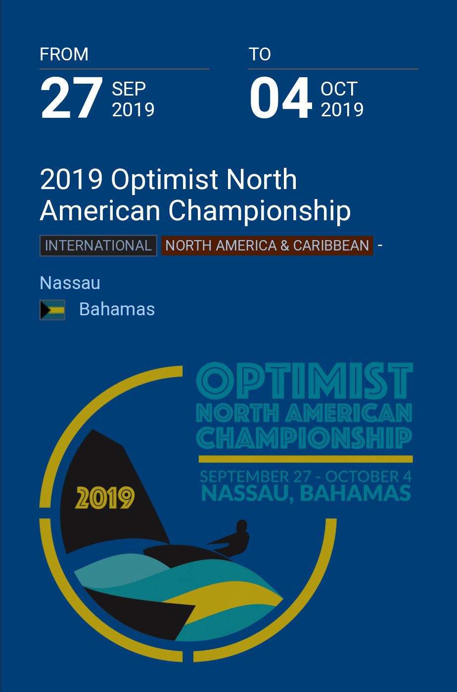 2019 Optimist North American Championship