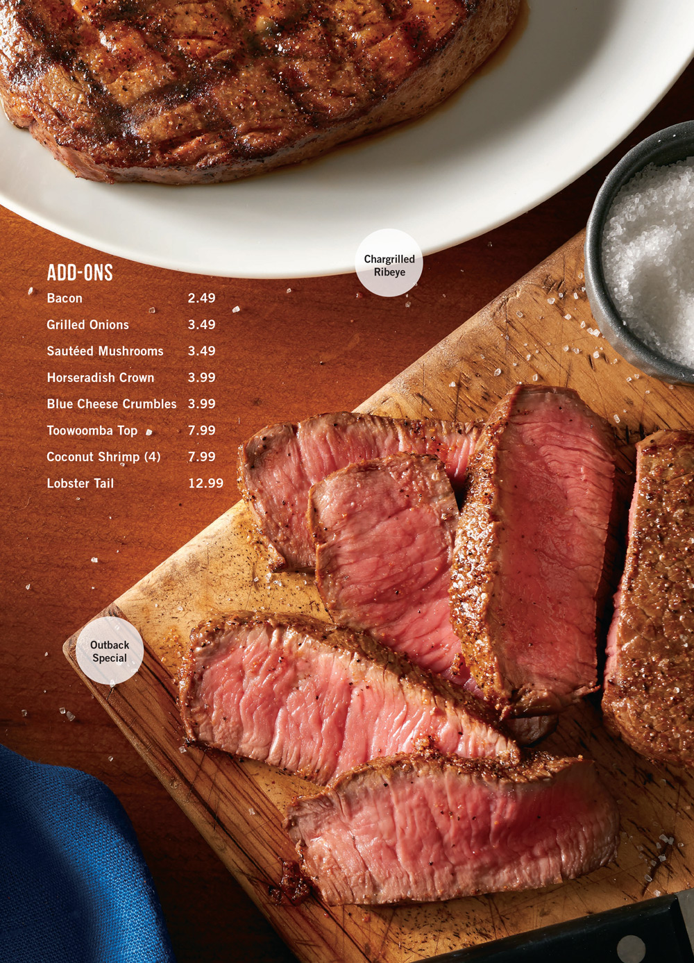 Outback Steakhouse Dinner Menu