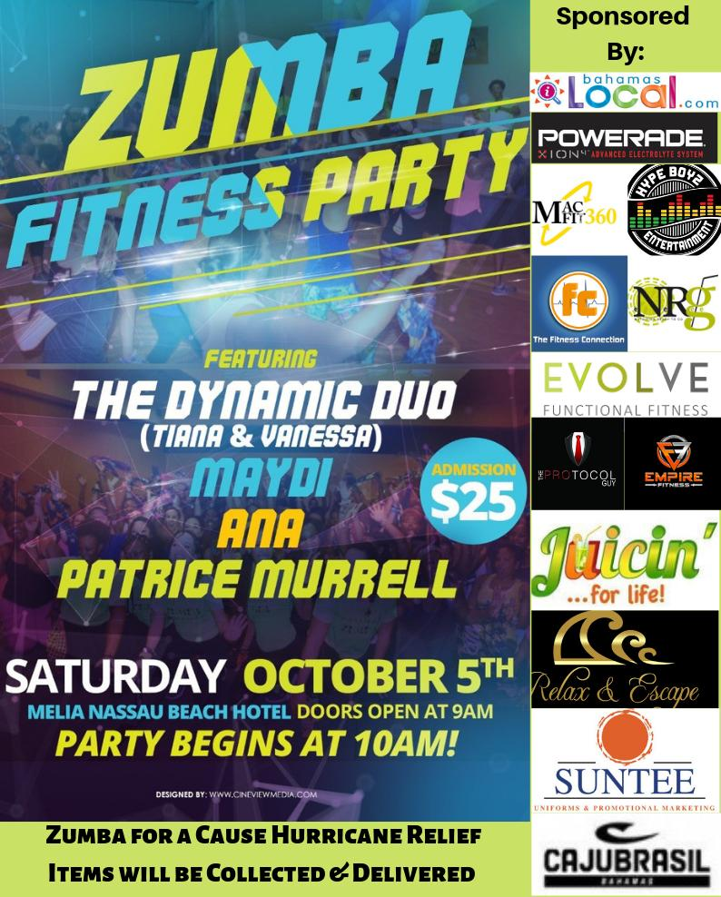 Bahamas Zumba Fitness Party 2019 - Zumba for a Cause Hurricane Relief