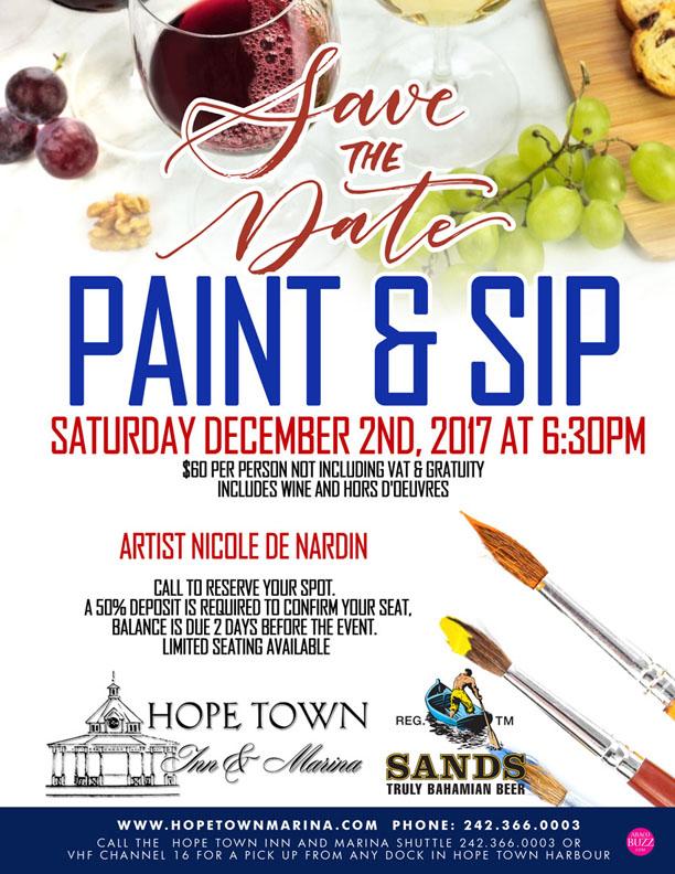Paint and Sip at Hope Town Inn and Marina