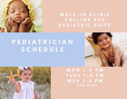 Dr. Chisholm, Pediatrician Schedule