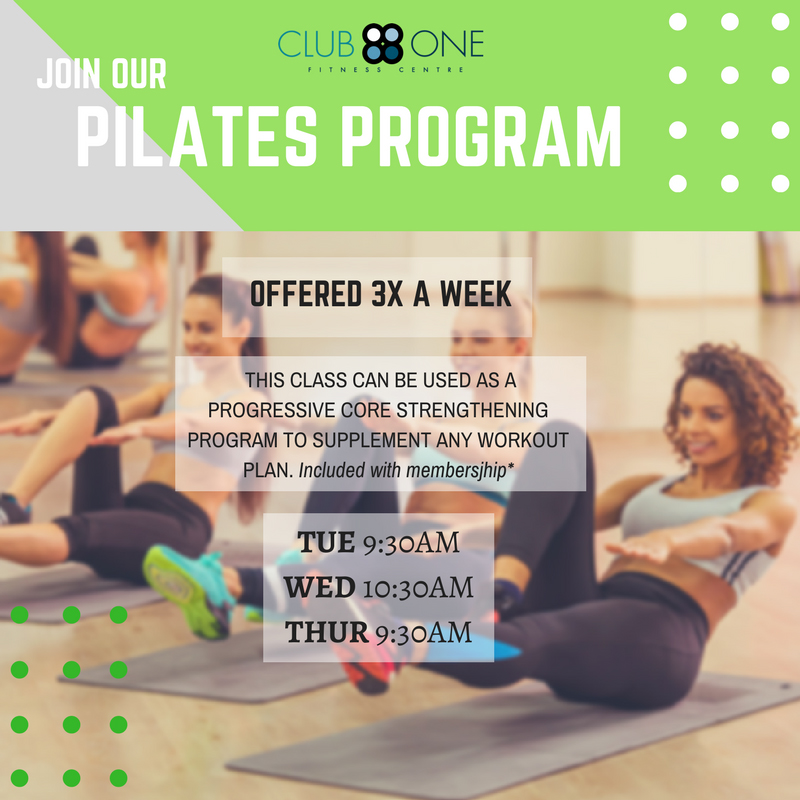 Pilates Program at Club One Fitness Centre