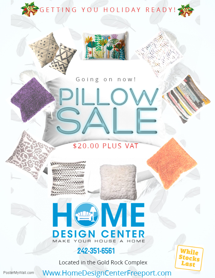 Going On Now! Pillow Sale At Home Design Centre