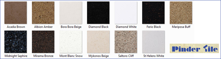 A variety of tile available at Pinder Tile