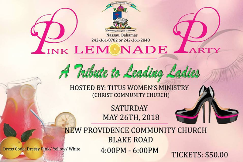 Pink Lemonade Party Hosted by Christ Community Church