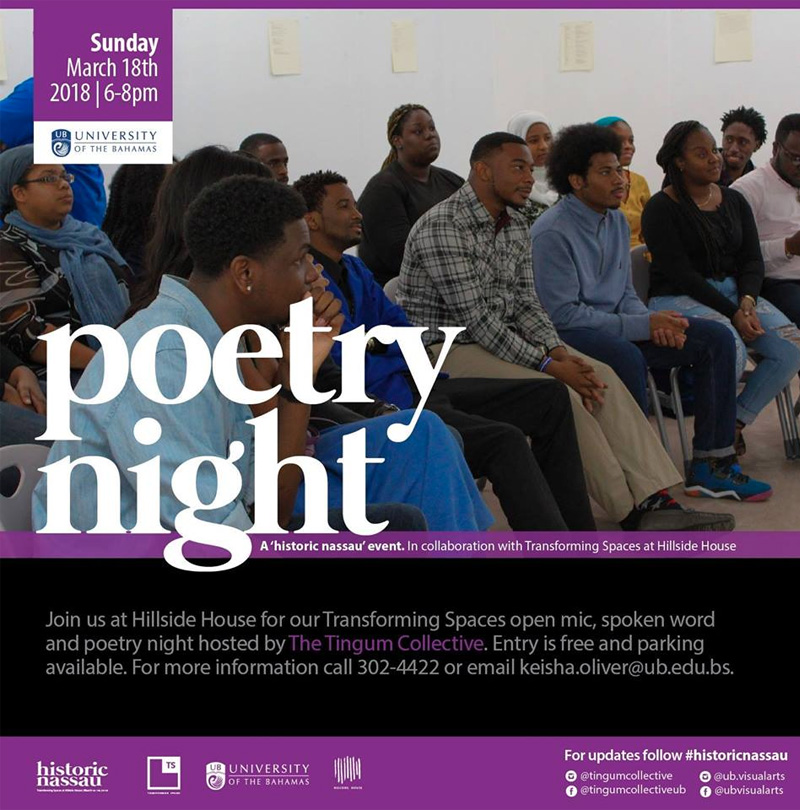 Transforming Spaces Poetry Night Hosted by UB English Studies