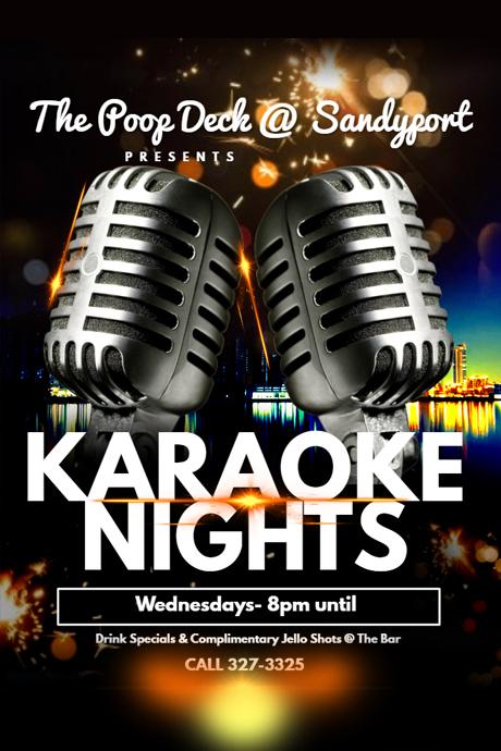 Karaoke Nights At Poop Deck Wednesday Nights