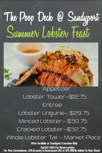 Lobster Feast At Poop Deck Wednesday Nights