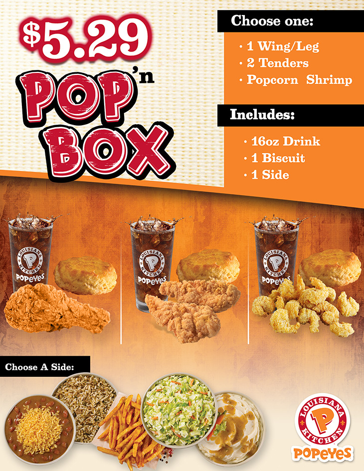 Popeyes Pop N Box | $5.29!