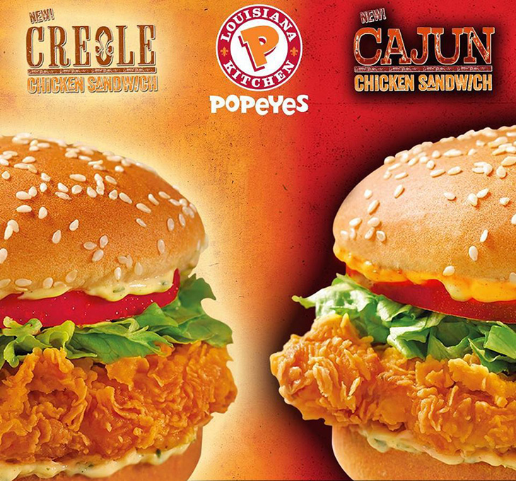 Popeyes Brand New Creole or Cajun Chicken Sandwiches!