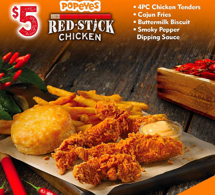 Popeyes | $5 Redstick Chicken Bring On The Heat!