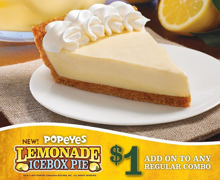 Popeyes Lemonade Icebox Pie!