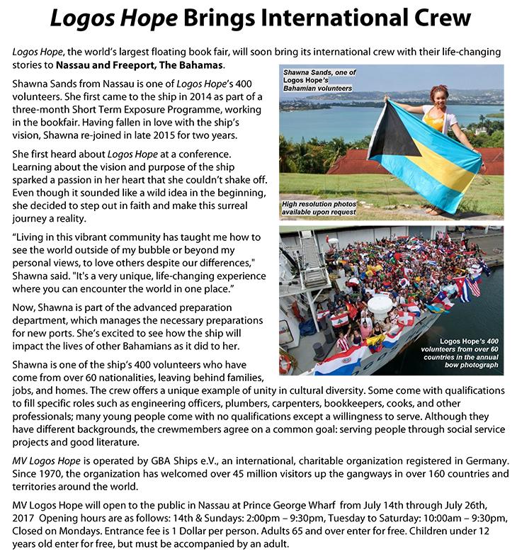 Logos Hope Brings International Crew