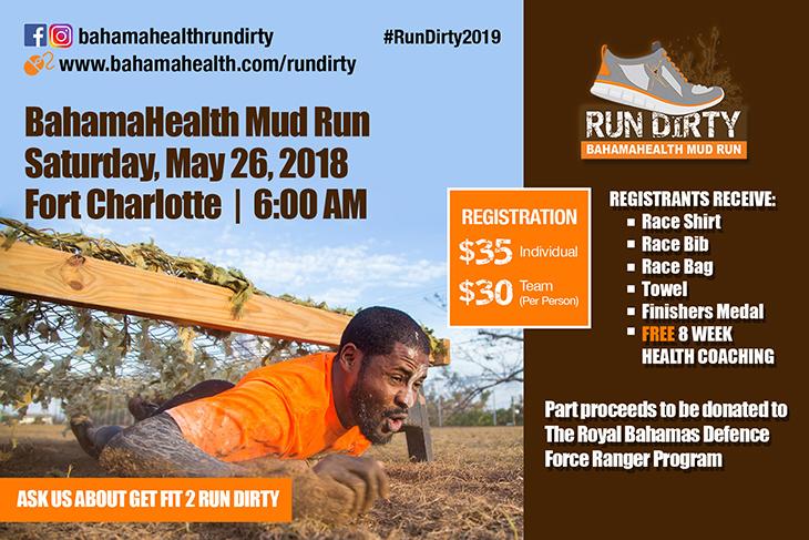 BahamaHealth Wellness Presents Run Dirty