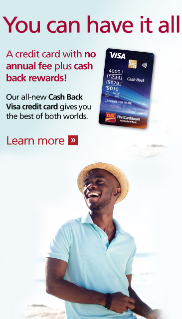 Cash Back Visa | No annual fee PLUS cash back rewards.