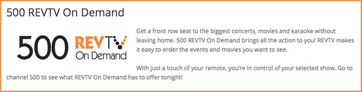 500 REVTV On Demand
