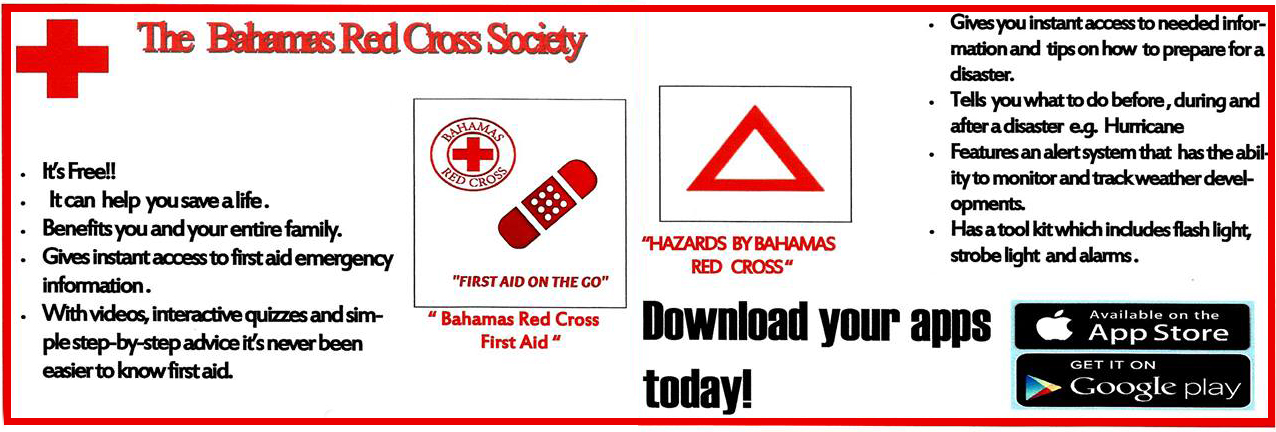 Download the Bahamas, Red Cross app now�it's FREE!