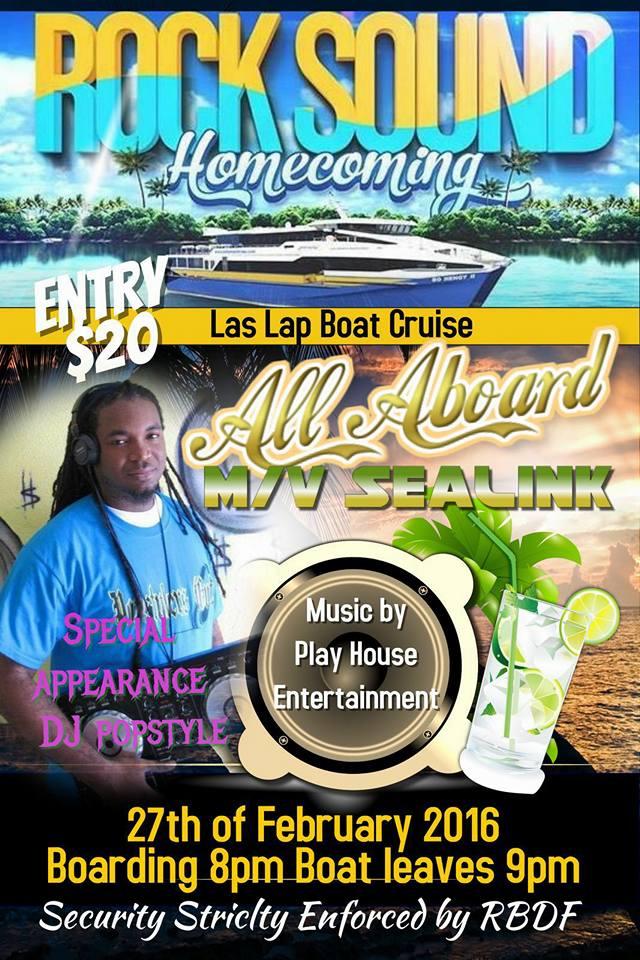 LAS LAP 2016, Rock Sound Homecoming Boat Cruise