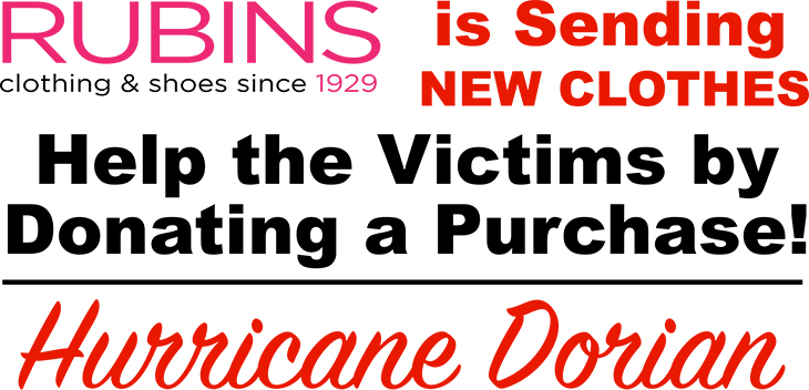 SouthWest Plaza - Rubins | Is Sending NEW Clothes To To Help Victims of Hurricane Dorian