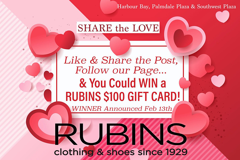 Happy Valentines from RUBINS! Like - Share - Follow & you could be our WINNER!